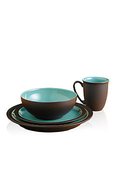 Denby Duet Brown & Turquoise 4pc Place Setting