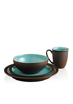 Denby Duet Brown & Turquoise 4-Piece Place Setting