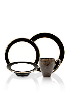 Denby Praline Noir 4-Piece Place Setting - Online Only