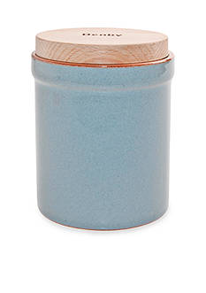 Denby Heritage Terrace Gray Storage Jar