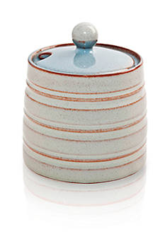 Denby Heritage Terrace Gray Covered Sugar Bowl - Online Only
