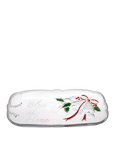 Mikasa Holiday Bells Sentiment Canape Tray
