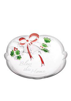 Mikasa Holiday Bells Sentiment Sweet Dish