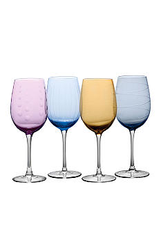 Mikasa Set of 4 Cheers Colors Wine Glasses