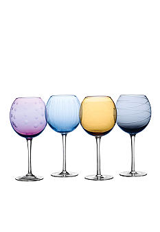 Mikasa Set of 4 Cheers Colors Balloon Glasses - Online Only