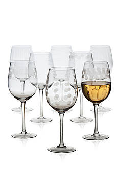 Mikasa Cheers Set of 8 White Wine Glasses