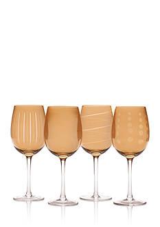 Mikasa Cheers Holiday Amber White Wine Glasses, Set of 4