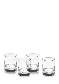Mikasa Disco Double Old Fashioned Set of 4 Glasses