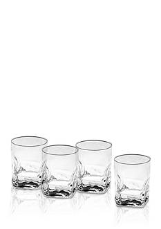 Mikasa Quartz Double Old Fashioned Glasses Set of 4