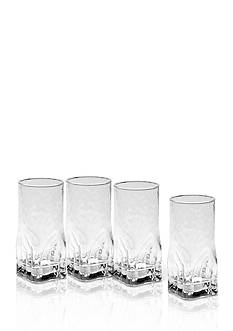 Mikasa Quartz Highball Glasses Set of 4