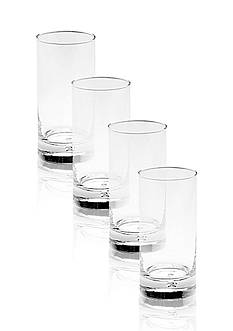 Mikasa Set of 4 Disco Highball Glass Set