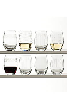 Mikasa Cheers Stemless Wine Glasses Set of 8