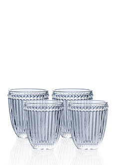 Mikasa Italian Countryside Set of 4 Double Old Fashion Glasses