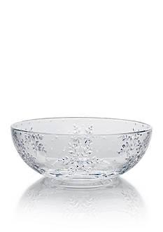 Mikasa Winter Flurries Glass Bowl