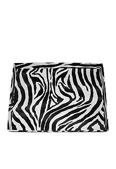 Jay Import Zebra Leather Tray