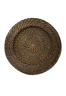 Jay Import Rattan Round Brick Brown Charger