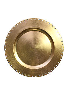 Jay Import Gold Jewels Rim Charger
