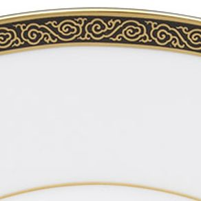 Gold China: Black Marchesa by Lenox BLCK&GLD 9ACCENT PL