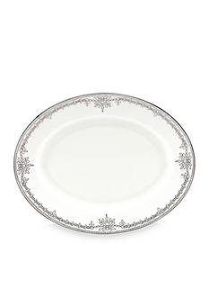 Marchesa by Lenox Empire Pearl Oval Platter 13-in.