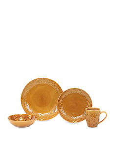 Baum Brothers Andaluz 16-Piece Dinnerware Collection - Amber