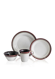 Baum Brothers Bellepoint Brick 16-Piece Dinnerware Set