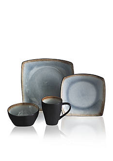 Baum Brothers Blue Meadow 16-Piece Dinnerware Set