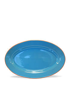 Baum Brothers Costa Del Sol Turquoise Oval Platter