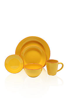 Baum Brothers Costa Del Sol Yellow 4-piece Place Setting & Platter