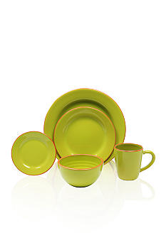 Baum Brothers Costa De Sol Lime 4-piece Place Setting & Platter