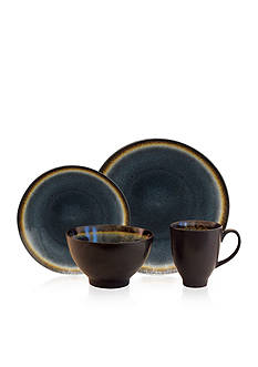 Baum Brothers Galaxy Coupe Denim 16-Piece Dinnerware Set
