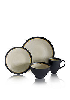 Baum Brothers Galaxy Coupe Sand 16-Piece Dinnerware Set