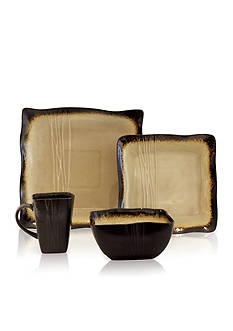 Baum Brothers Galaxy Sand 16-Piece Dinnerware Set