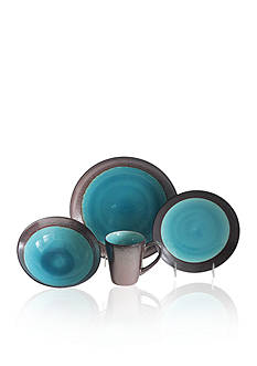 Baum Brothers Jade Copper 16-Piece Dinnerware Set