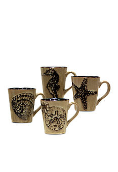 Baum Brothers Ocean Life Set of 4 Mugs