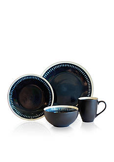 Baum Brothers Reactive Line Blue 16-Piece Dinnerware Set
