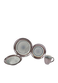 Baum Brothers Stellar Gray 16-Piece Dinnerware Set - Online Only
