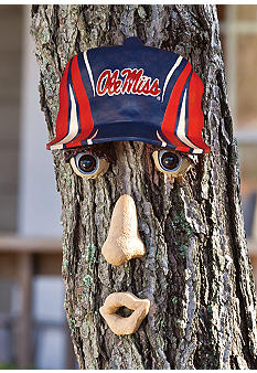 Evergreen Ole Miss Rebels Tree Face