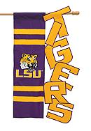 LSU Tigers Large House Flag