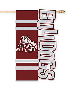 Evergreen Mississippi State Bulldogs Large House Flag