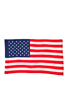 Evergreen American Regular Size Applique Flag