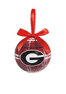 Evergreen Georgia Bulldogs Ball Ornament