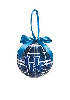 Evergreen Kentucky Wildcats Ball Ornament