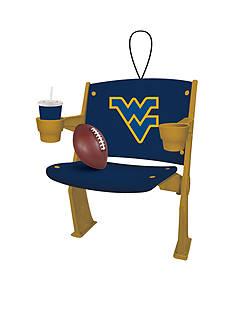 Evergreen West Virginia Mountaineers Stadium Chair Ornament