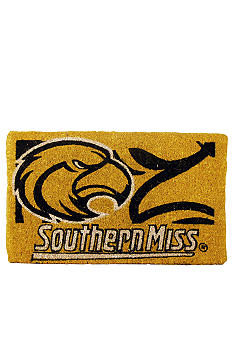 Evergreen Southern Miss Golden Eagles Coir Mat