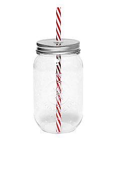 New View 16-oz. Glass Jar with Straw
