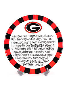 Magnolia Lane Georgia Bulldogs Definition Plate
