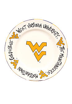 Magnolia Lane West Virginia Mountaineers Round Plate