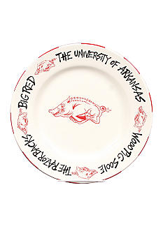 Magnolia Lane Arkansas Razorbacks Round Plate