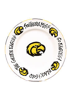Magnolia Lane Southern Miss Golden Eagles Round Plate