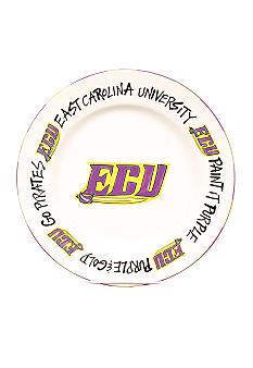 Magnolia Lane East Carolina Pirates Round Plate
